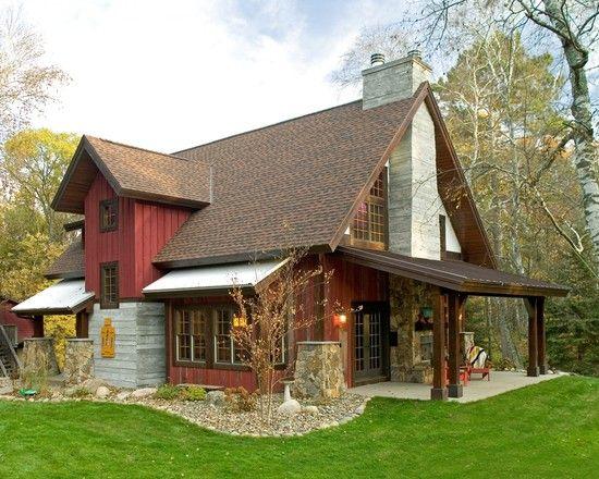 Modern farmhouse fireplaces and interior ideas on pinterest - Rustic modern farmhouse exterior ...