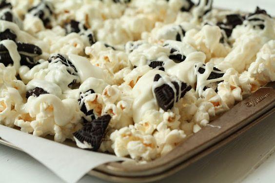 sweet + salty combo! Cookies and Cream Popcorn