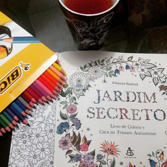 Livro de colorir Jardim Secreto.