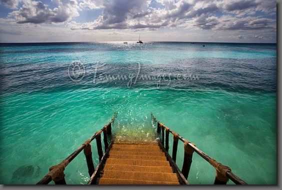 Stairs to the Indian Ocean.
