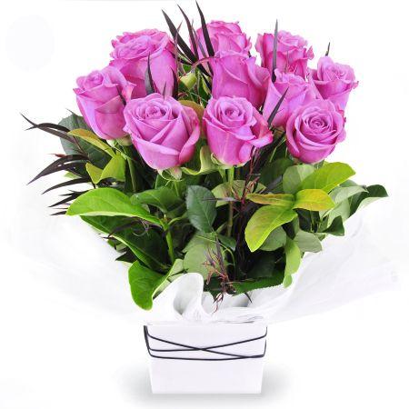 Blue Moon - arrangement of purple roses.