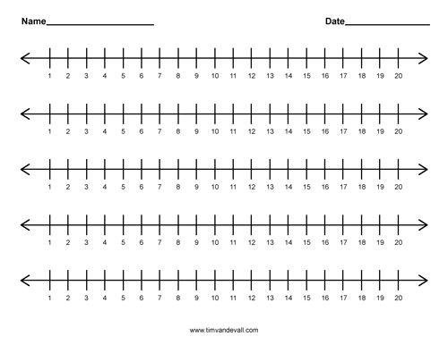 Number Names Worksheets : printable number line to 20 Printable ...