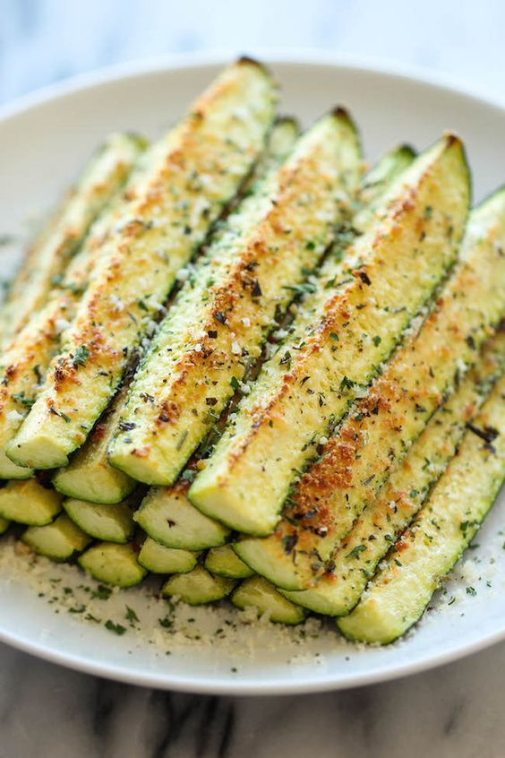 "Baked Parmesan Zucchini ""Fries"" 