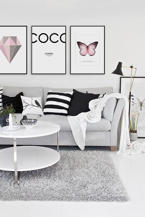 decoracao interiores braga:1000 ideias sobre Preto Cor De Rosa no Pinterest