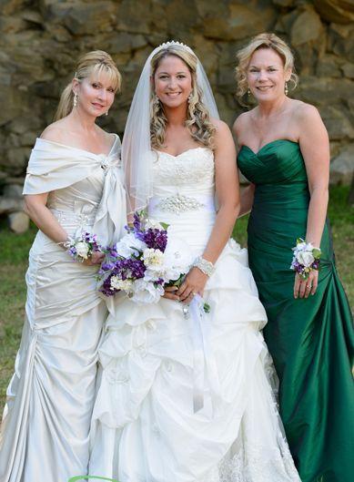 Brandi Sheridan, Concord NC - Maggie Bride beautiful idea, mom wear wedding gown, train transformed into shawl*