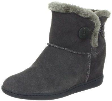 Skechers Women's Plus 3-Cozy Up Boot - Charcoal