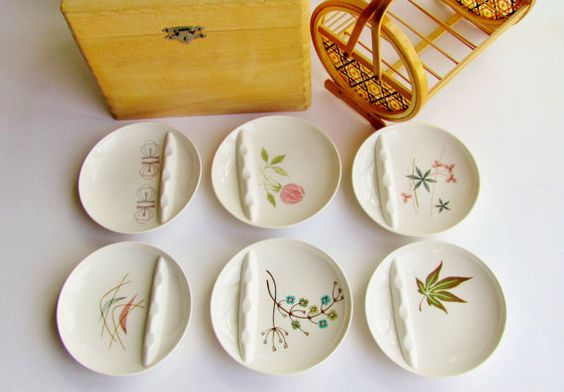 Vintage Franciscan Ware Whitestone Ceramic Ashtrays by OldLikeUs