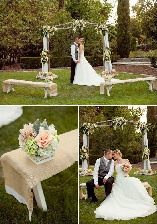Intimate Backyard Wedding | Backyard, Couples and Flowers