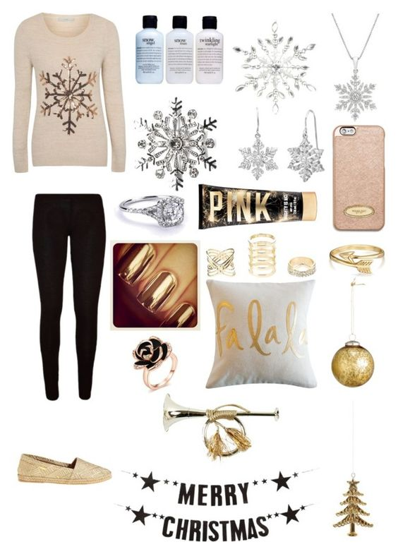 """""""Snowflakes...."""" by jessicacalumhood1253 ❤ liked on Polyvore featuring George, Kaanas, philosophy, Coach House, Kim Rogers, Amanda Rose Collection, MICHAEL Michael Kors, Charlotte Russe, Bling Jewelry and H&M"""
