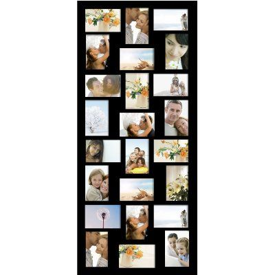 Adeco [PF9107] 24 Openings 4x6 & 6x4 Collage Picture Frame - Wood Photo Collage Decoration - Black, for Wall Hanging, Horizontal & Vertical:Amazon:Home & Kitchen