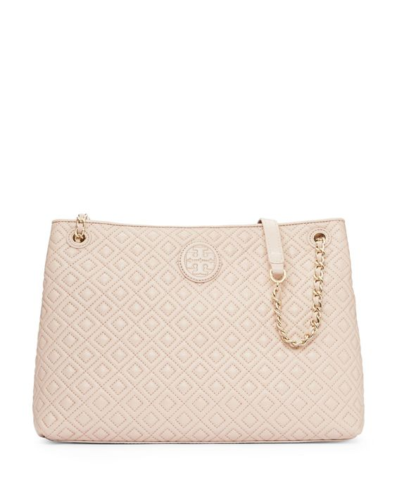 Image result for Tory Burch Marion Quilted Chain Shoulder Bag in Light Oak