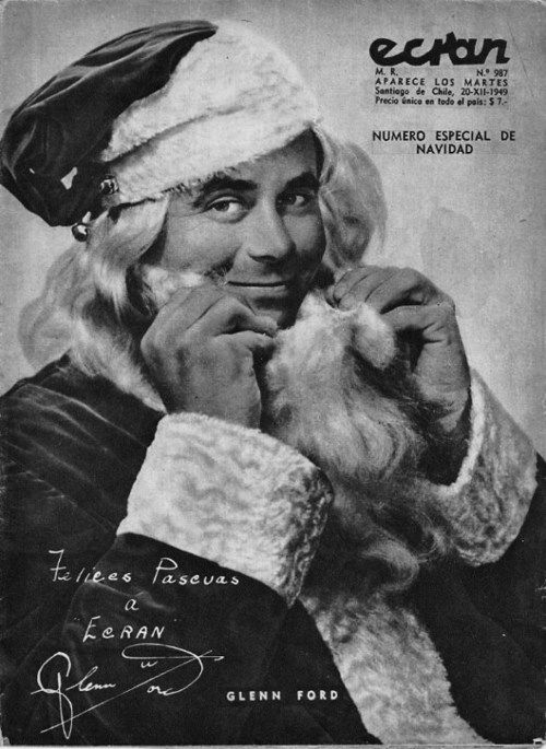 Glenn Ford as Santa Claus for Mr. Soft Touch, 1949: