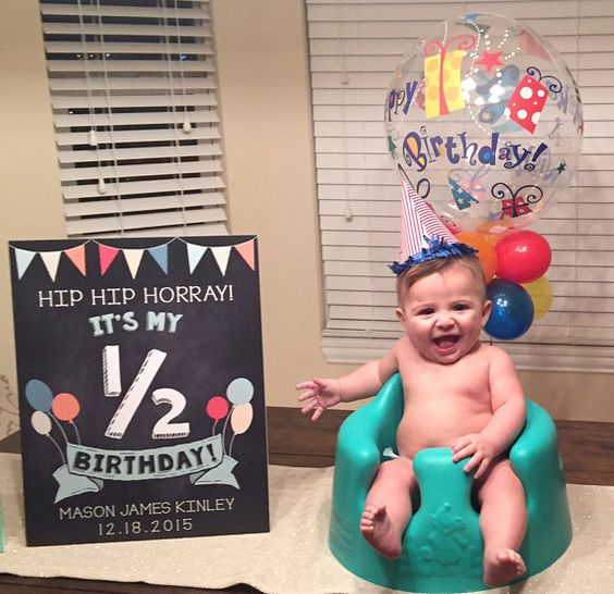 Half Birthday Sign by TheBeesKneesStudio on Etsy