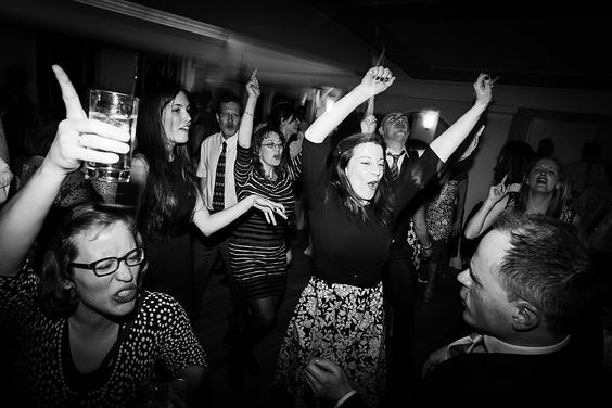 Enthusiastic fun lively wedding dance floor at Pembroke Lodge Surrey © Fiona Kelly Photography