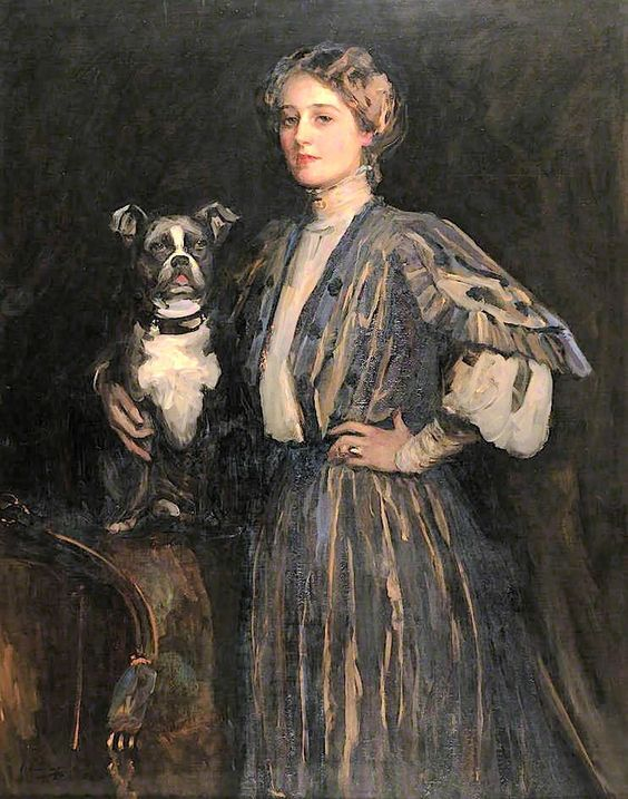 lavery, sir john - Violet and Gold (L'Entente Cordiale)  Sir John Lavery 1856-1941
