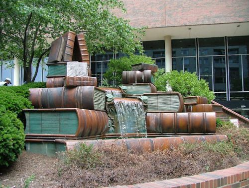 Book Fountain Cincinnati, Ohio USA