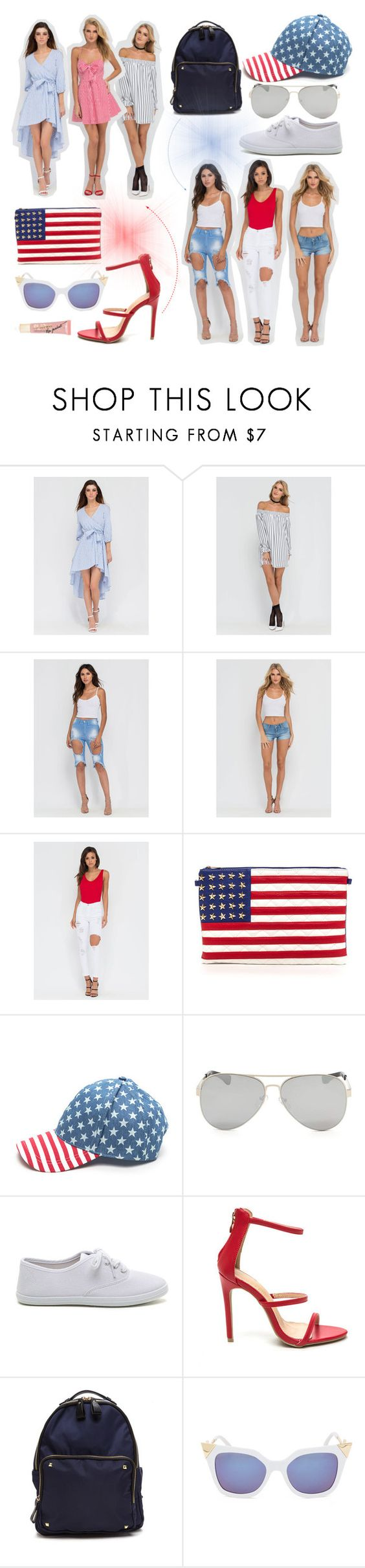 """""""4th of July #OOTD"""" by gojane ❤ liked on Polyvore"""