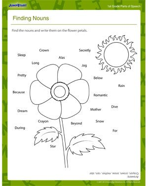 Printables Elementary Education Worksheets elementary education worksheets student and preschool english on finding nouns worksheet