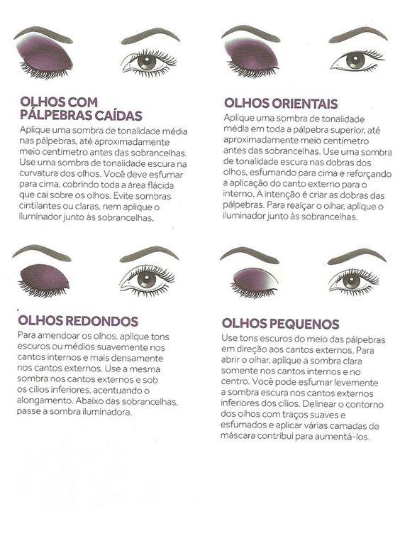 Dicas de make de acordo com o formato dos olhos - parte II ;)