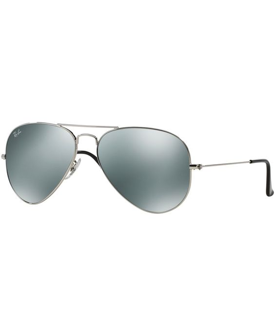 Ray-Ban Sunglasses, RB3025 58 Aviator Mirrored