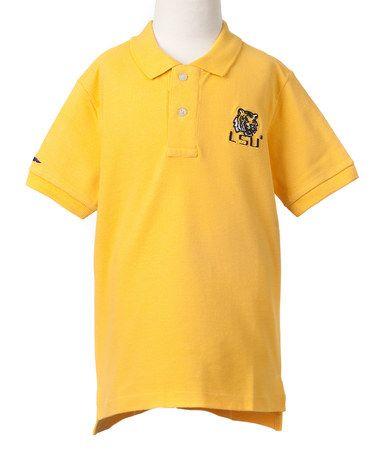 Look at this #zulilyfind! LSU Tigers Gold Mascot Polo - Boys #zulilyfinds