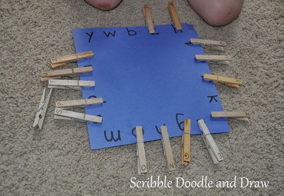 Matching upr & lowercase letters. Scribble Doodle and Draw