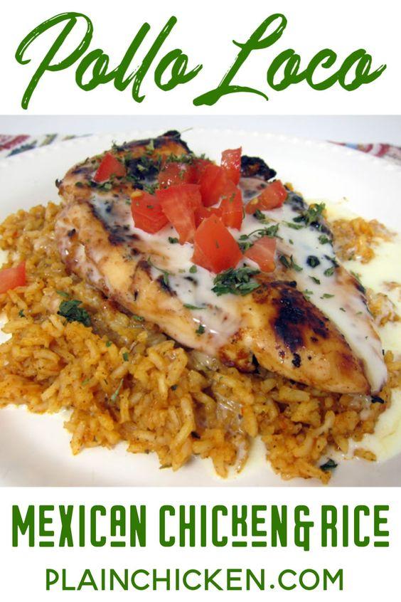 Pollo Loco - Mexican Chicken and Rice - Plain Chicken
