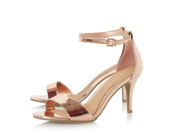MORA - Two Part Mid Heel Sandal | Rose gold, Lady and Shoes online