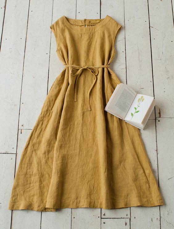 linen a-line dresses