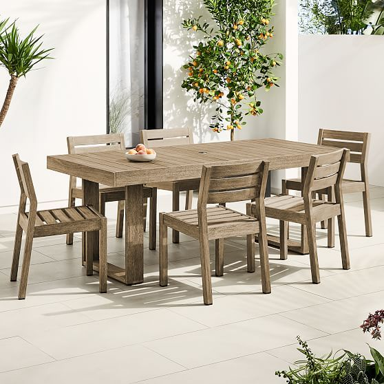 Portside Outdoor 76 5 Dining Table Solid Wood Chairs Set Dining Table Expandable Dining Table Solid Wood Dining Chairs