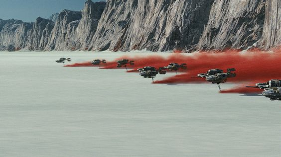 Battle of Crait, as seen in Star Wars: The Last Jedi