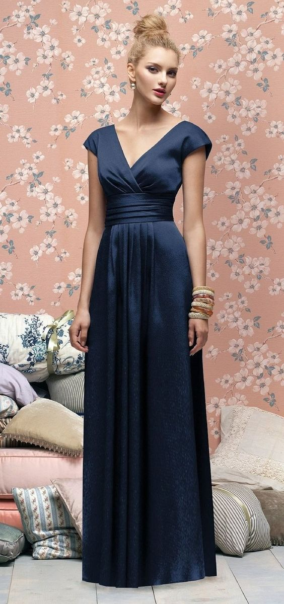 Color inspiration midnight blue and navy wedding ideas for Midnight blue wedding dress