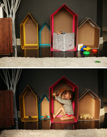 Cardboard Houses by Andrea / Adventures in Pinksugarland