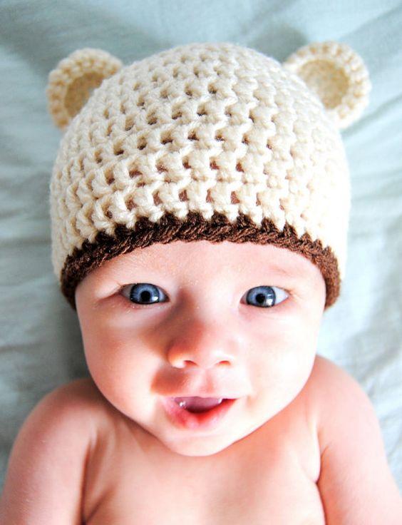 Crochet Baby Bear Beanie Pattern : Pinterest The world s catalog of ideas