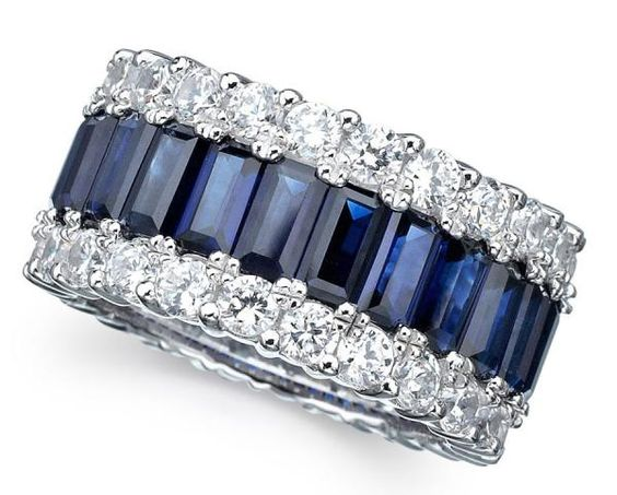 imgend///lovely sapphire and diamond wedding band///www.annmeyersignatureevents.com