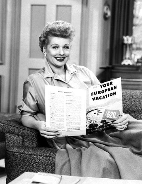 Lucille Ball - European vacation