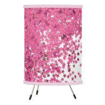 Pink glitter stars Pendant Lamp
