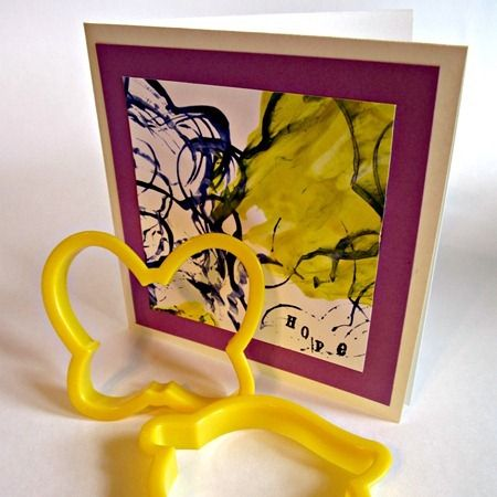 Butterfly Cookie Cutter Stamped Card and Small Hands Creating Hope eBook for Cancer from B-InspiredMama.com