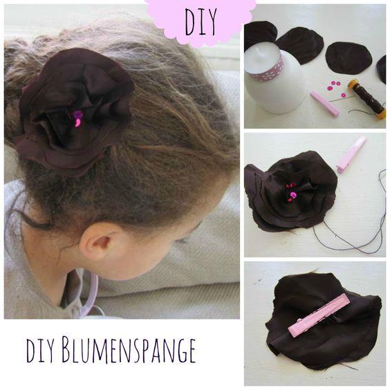 super schnelle und einfache Blumenhaarspange für kleine Elfen ♥  #Haarspange #DIY