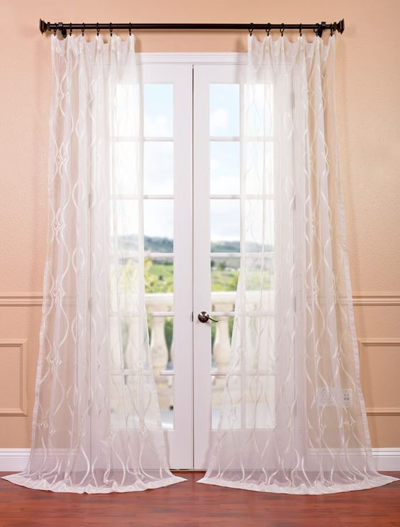 curtain dining room pinterest sheer curtains patterns and