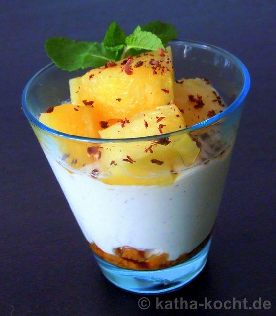 Ananas-Mascarpone-Gläschen - Katha-kocht!