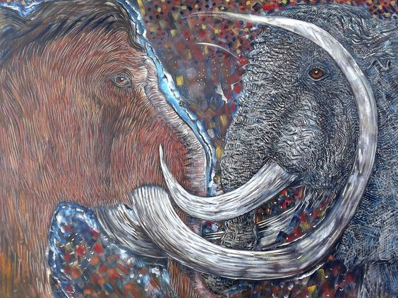 The Mammoth and the Elephant poem -  extinct and endangered species: lovely poem and great info