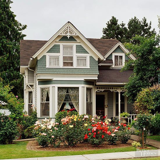 Home Improvement Exteriors Curb Appeal Victorian Style Home Ideas