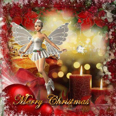 Christmas Fairy Blingee by stina scott