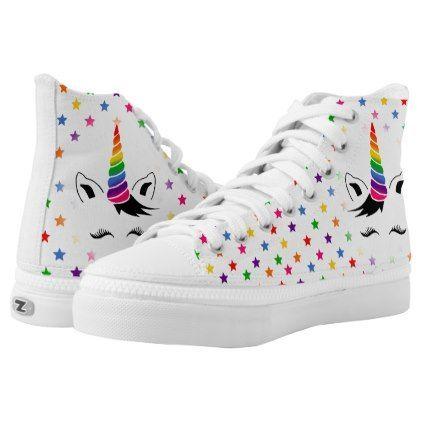 Glam Rainbow Unicorn High-Top Sneakers