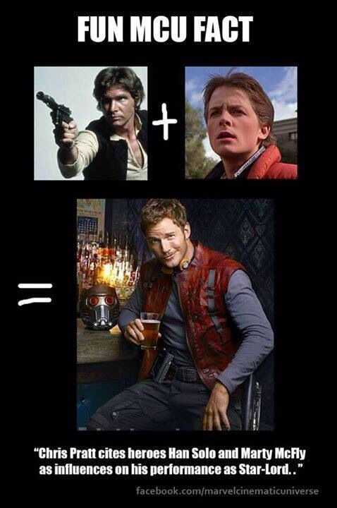 Chris Pratt says his Star-Lord is a mix of Marty McFly and Han Solo
