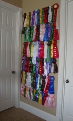 Been There Dunne That: Horse Show Ribbons  how to display show ribbons