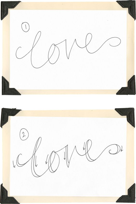 Fake calligraphy tutorial and on