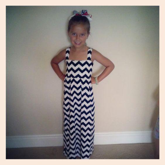 Toddler/Girls Chevron Maxi Dress Chevron Maxi by MommysCuteyPoo ...