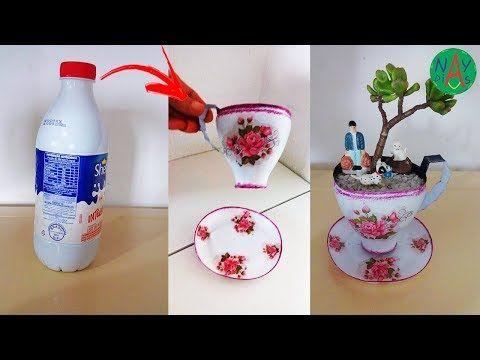 Como Fazer Xicara De Garrafa Lembrancinha Decoracao Vaso